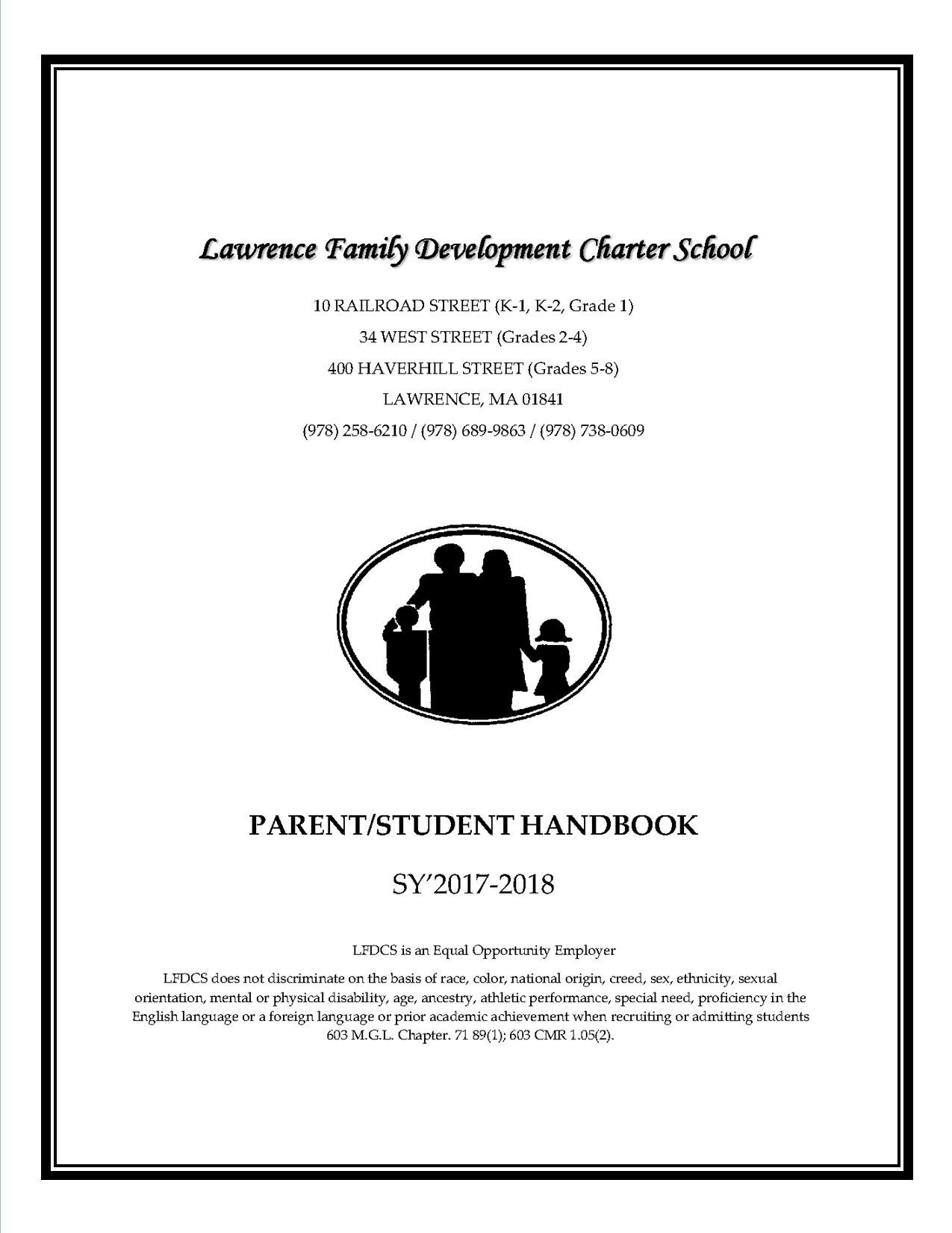 Parent Student Handbook Cover